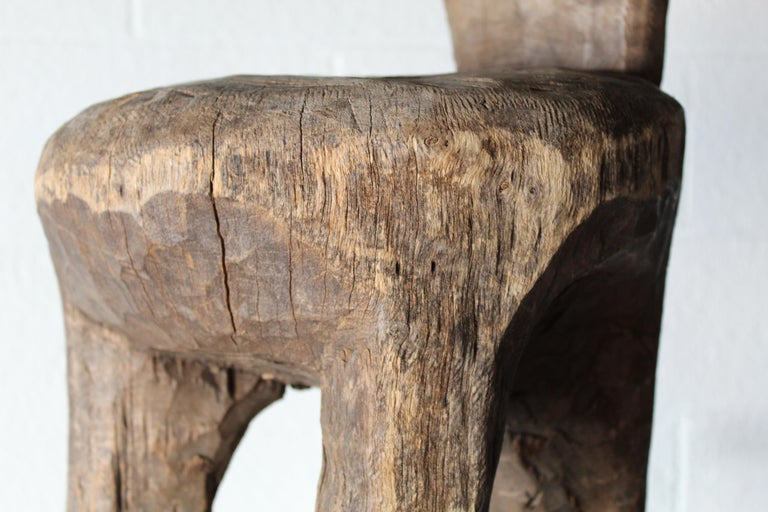 Hand-Carved Primitive African Child's Chair For Sale