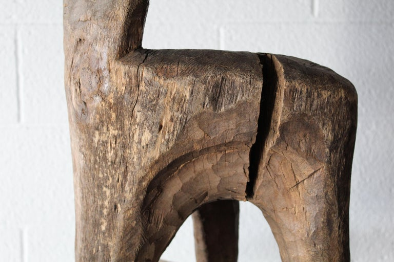 Wood Primitive African Child's Chair For Sale