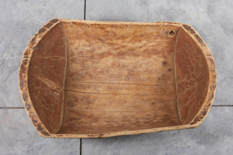 Primitive Antique Carved Bowl with Great Patina For Sale 3