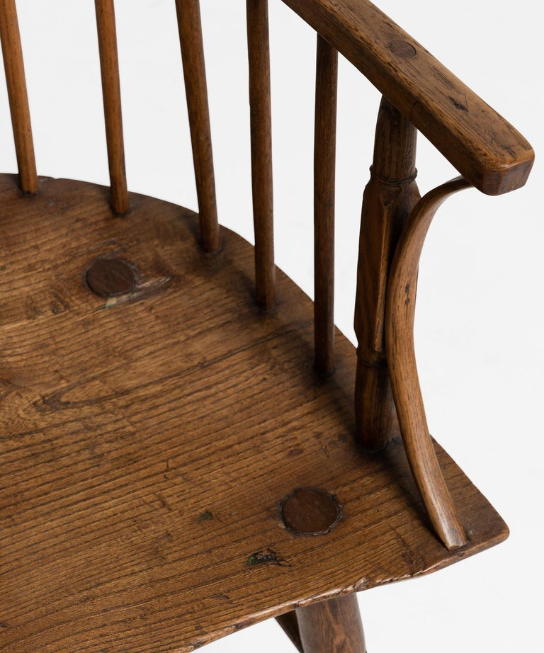 English Primitive Ash Stick Chair, England, 18th Century For Sale