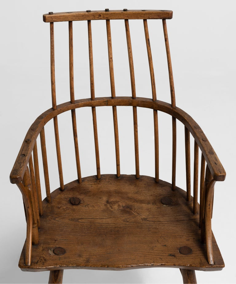 Primitive Ash Stick Chair, England, 18th Century In Good Condition For Sale In Culver City, CA