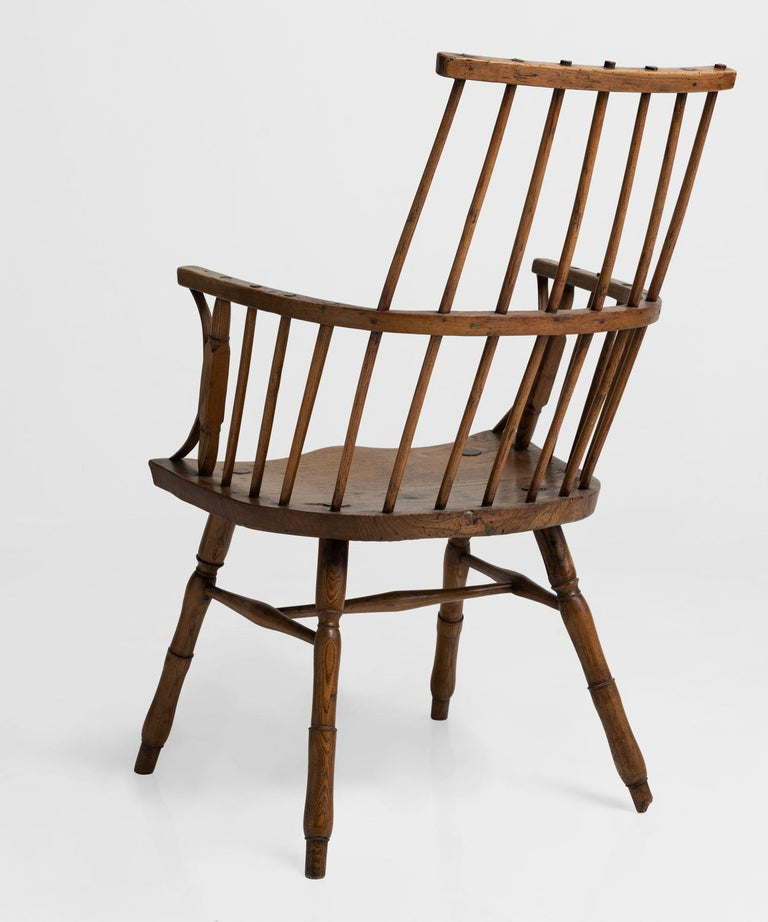 Wood Primitive Ash Stick Chair, England, 18th Century For Sale