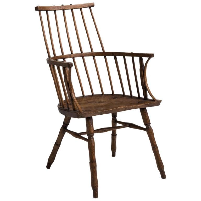 Primitive Ash Stick Chair, England, 18th Century For Sale