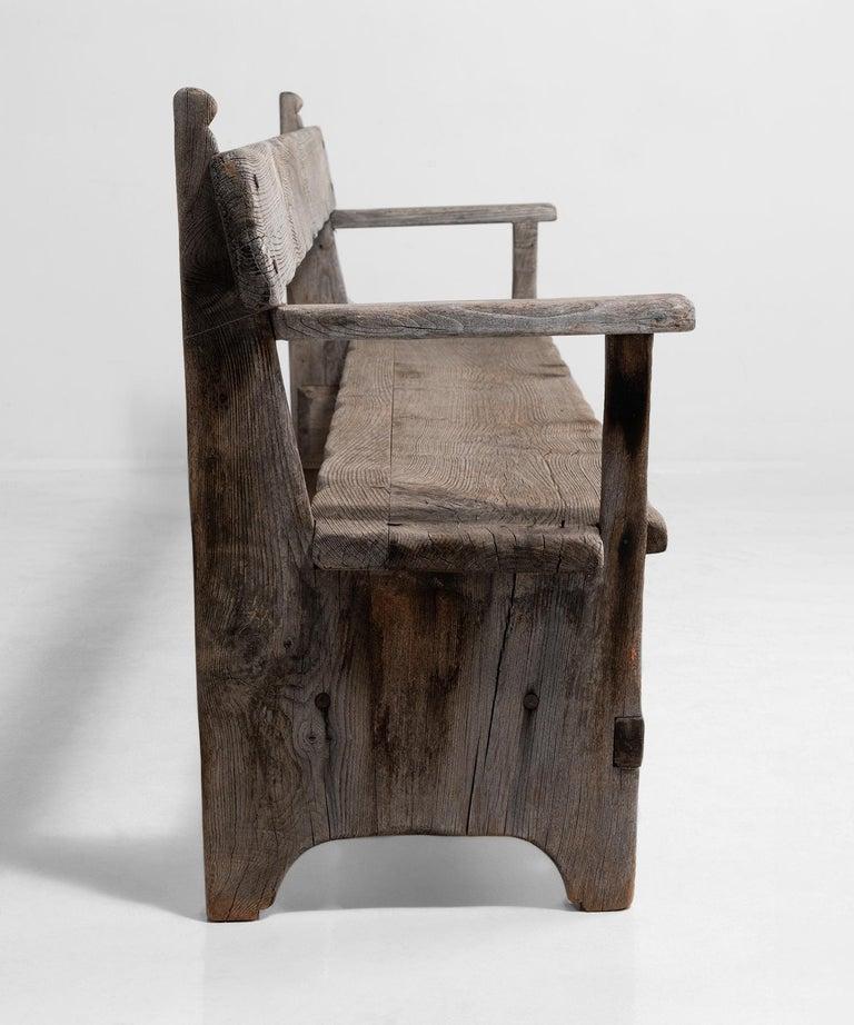 Teak Primitive Bench For Sale