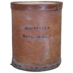 Primitive Boonville Bottling Works Round Mercantile Barrel Industrial Box
