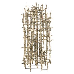 """""""Primitive Cathedral lll"""" Newsprint Wrapped Wire Sculpture by Matteo Naggi"""