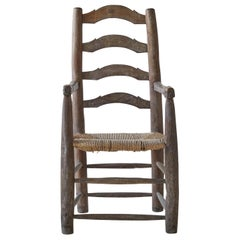 Primitive Chair with Rush Seat