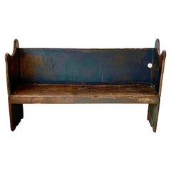 Primitive Chestnut Wood Bench, 18th Century, Spain