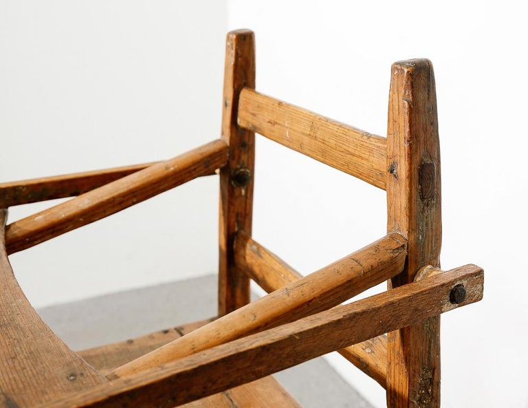 Primitive Child's High Chair For Sale 5