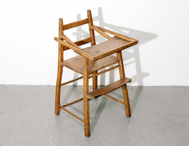 19th Century Primitive Child's High Chair For Sale