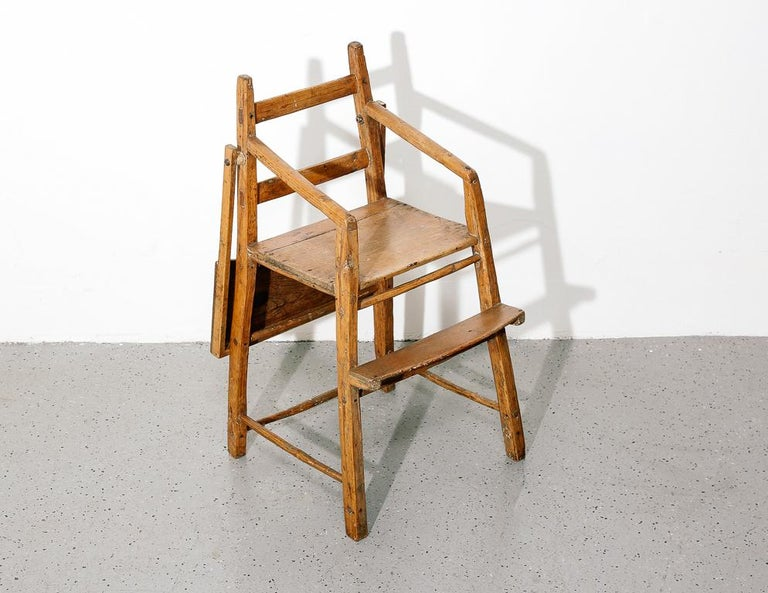 Pine Primitive Child's High Chair For Sale
