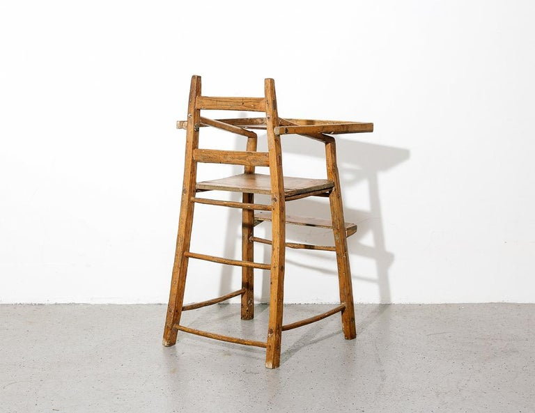 Primitive Child's High Chair For Sale 2