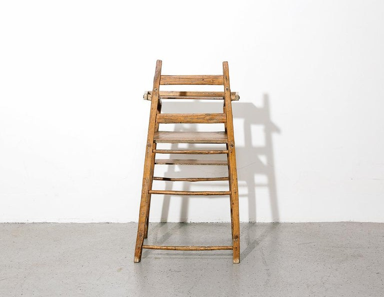 Primitive Child's High Chair For Sale 3