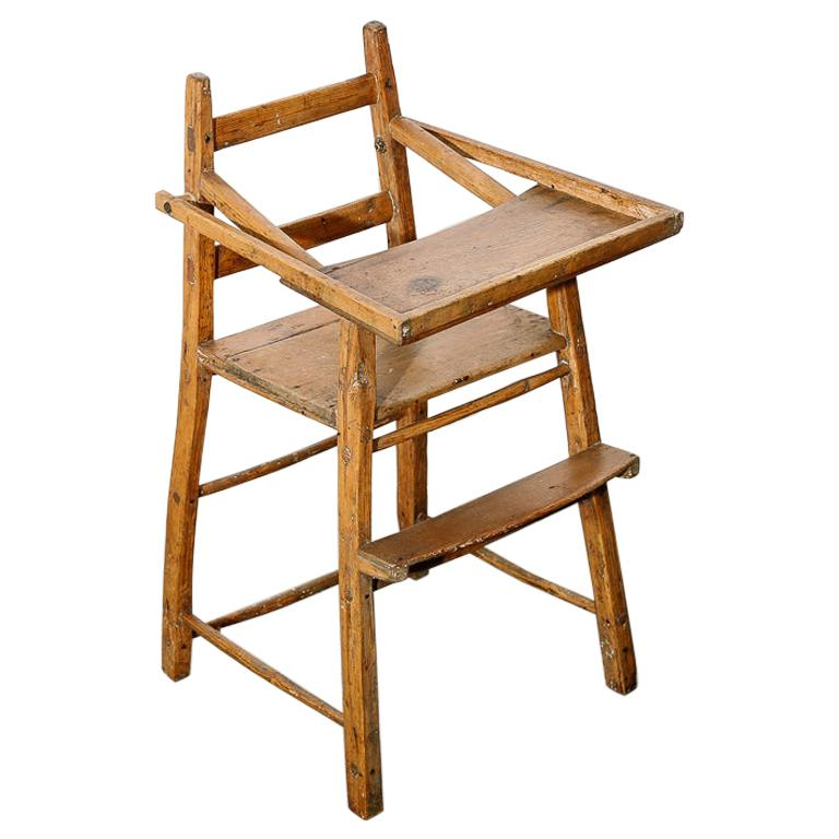 Primitive Child's High Chair