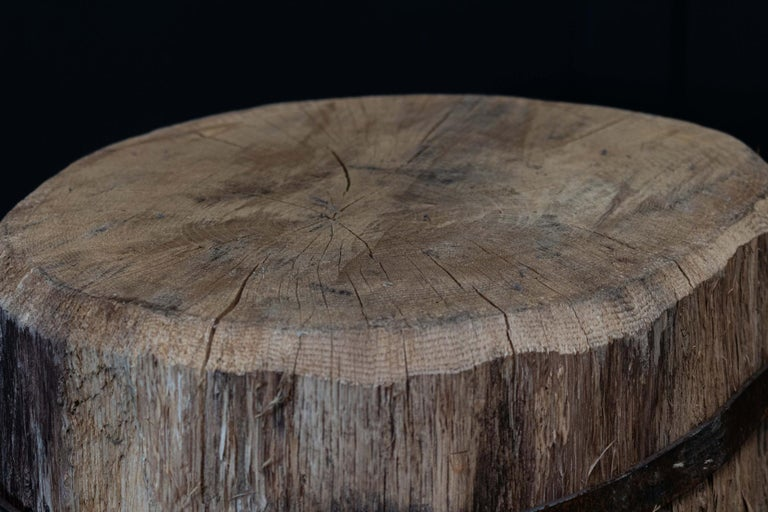Primitive Chopping Block End Tables For Sale 4