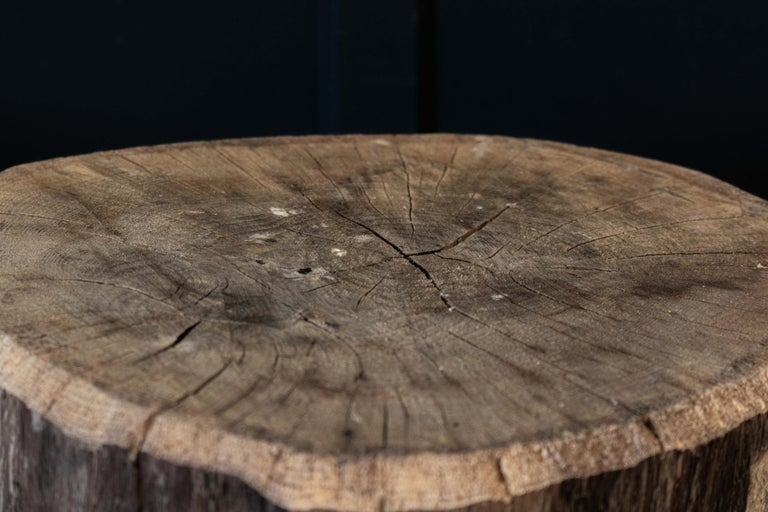 Primitive Chopping Block End Tables For Sale 1