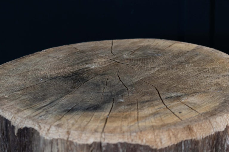 Primitive Chopping Block End Tables For Sale 2