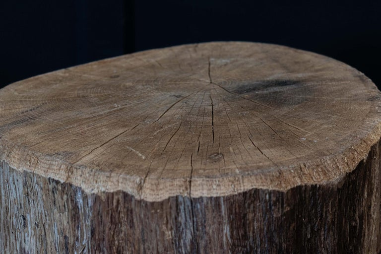 Primitive Chopping Block End Tables For Sale 3