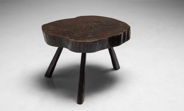 French Primitive Coffee Tables, France, circa 1960