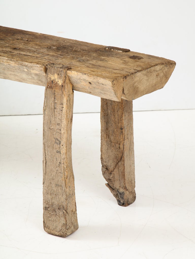 French Primitive Console/Workbench, France, circa 1900 For Sale