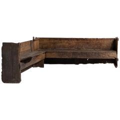 Primitive Corner Bench
