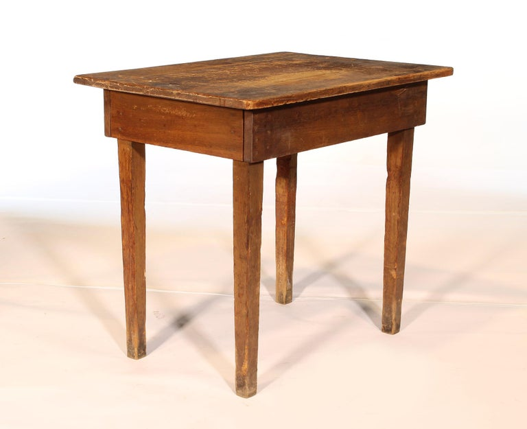 Primitive / Country Style Wooden School Desk / Table For Sale 4