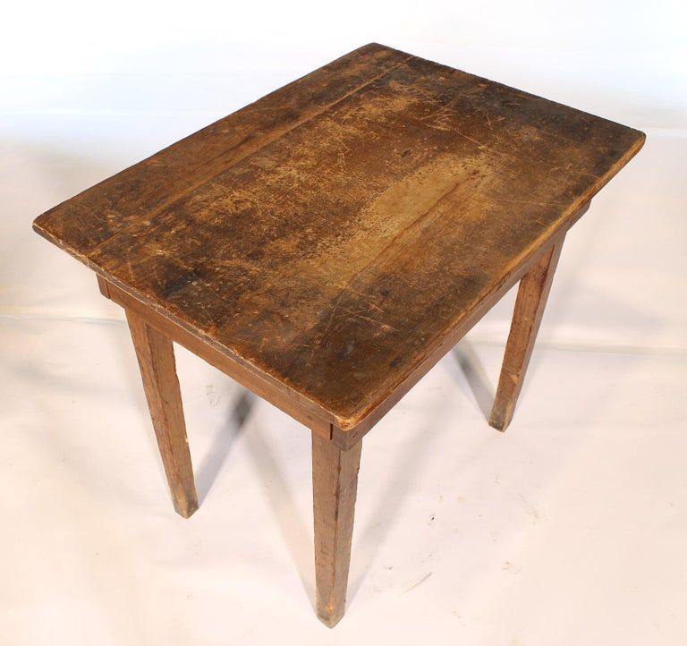 Primitive / Country Style Wooden School Desk / Table For Sale 5