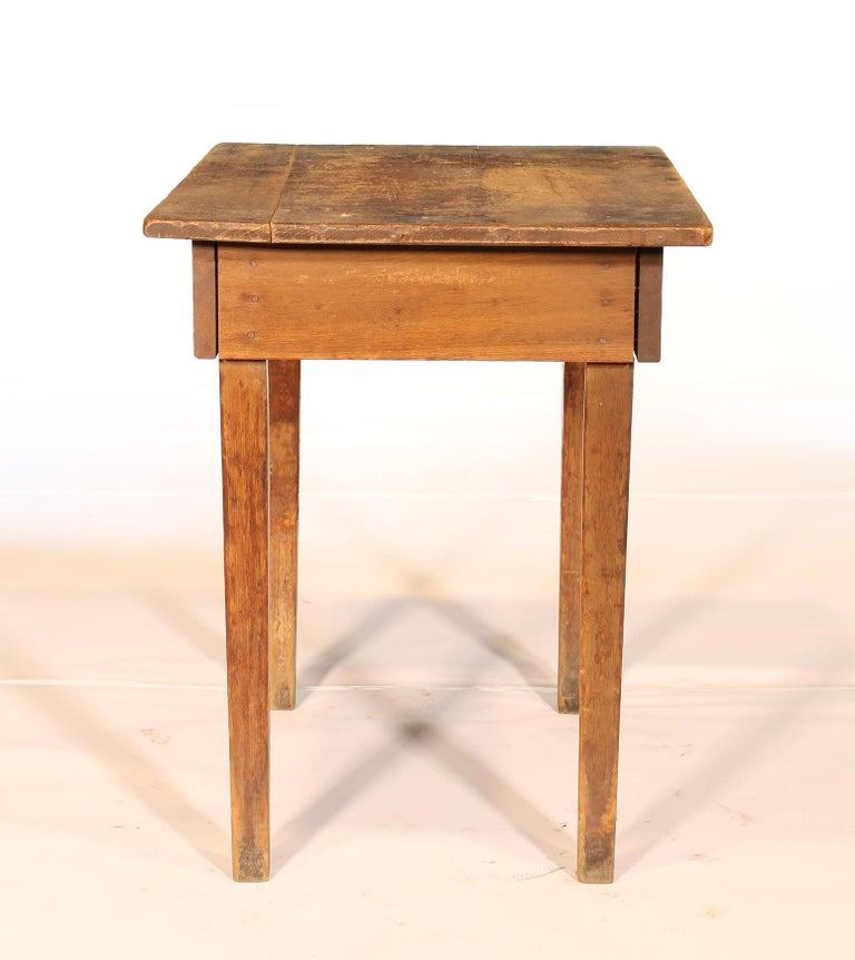 Primitive / Country Style Wooden School Desk / Table For Sale 6