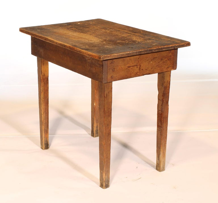 Primitive / Country Style Wooden School Desk / Table For Sale 1