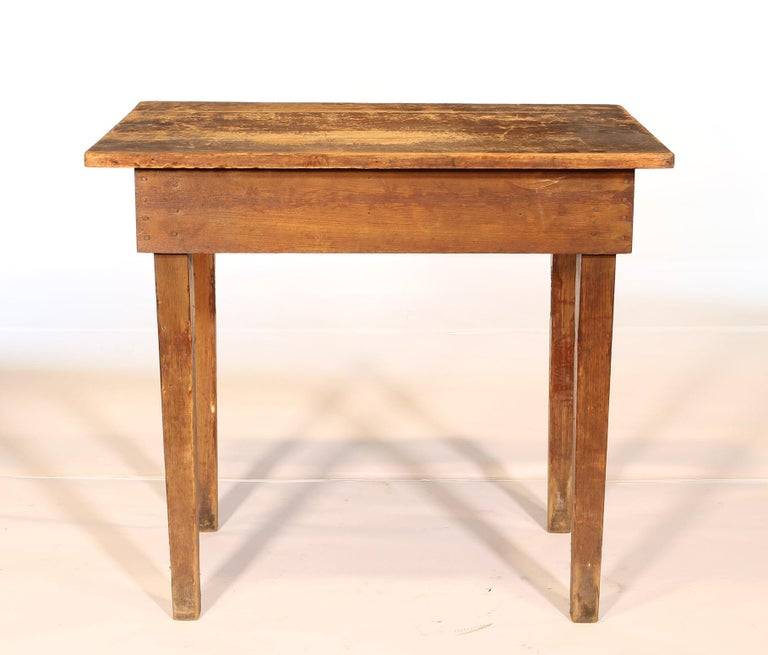 Primitive / Country Style Wooden School Desk / Table For Sale 3