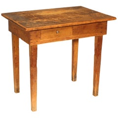 Primitive / Country Style Wooden School Desk / Table