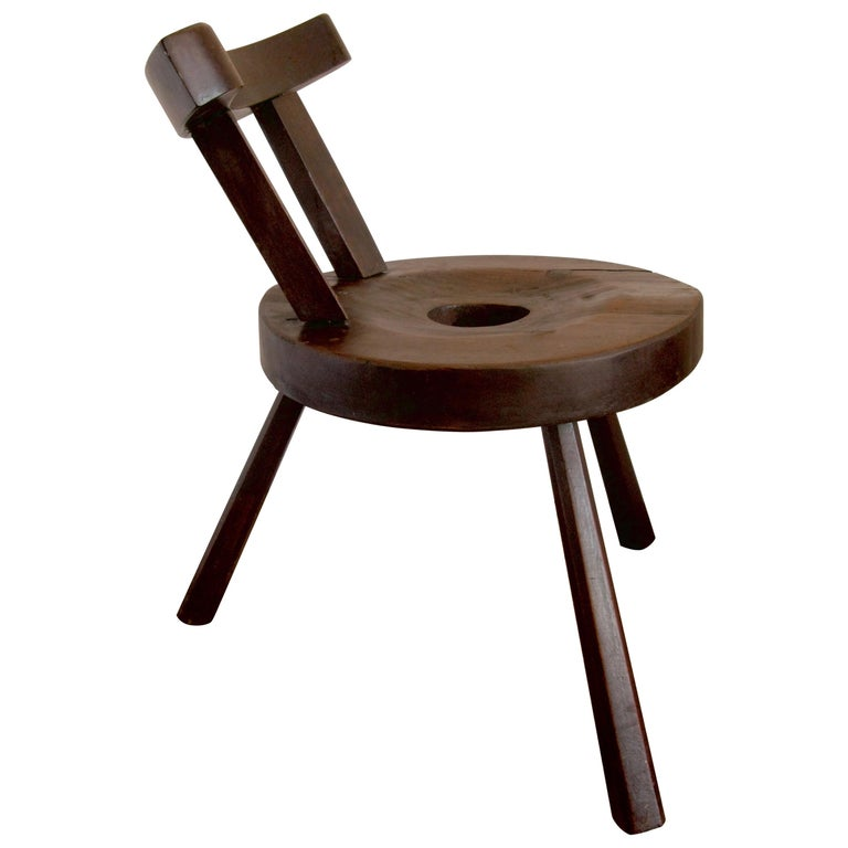 Primitive Design, Country Style, Chair, Art, Working Chair, Wine, Stool For Sale
