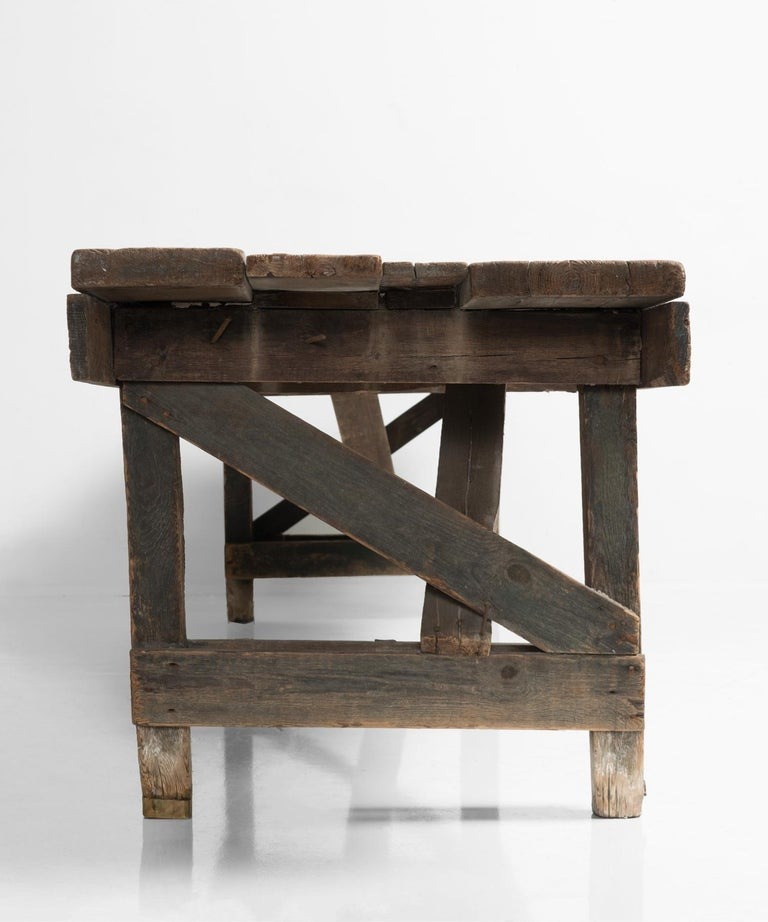 Primitive Dining Table, France, 19th Century In Good Condition For Sale In Culver City, CA