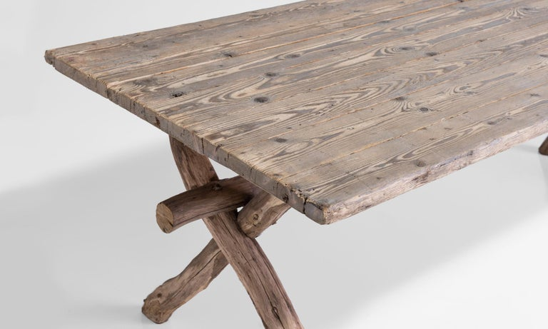 Early 20th Century Primitive Dining Table, France, circa 1900 For Sale