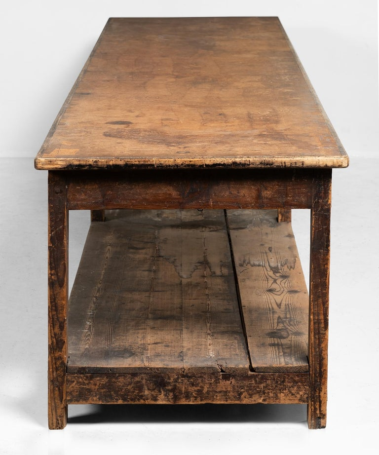 Italian Primitive Drapers Table For Sale