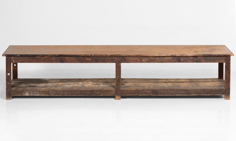20th Century Primitive Drapers Table For Sale