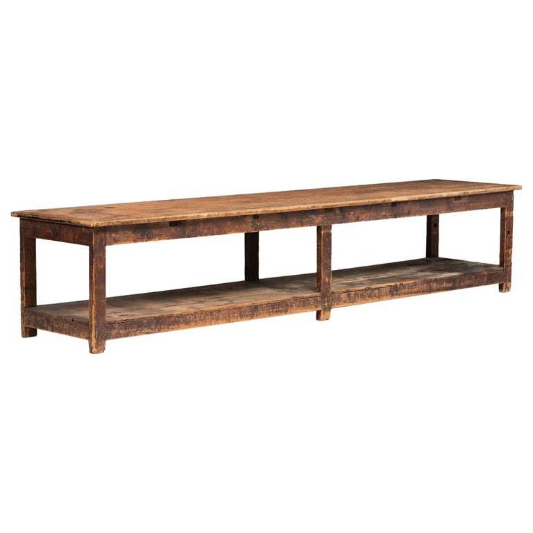 Primitive Drapers Table For Sale