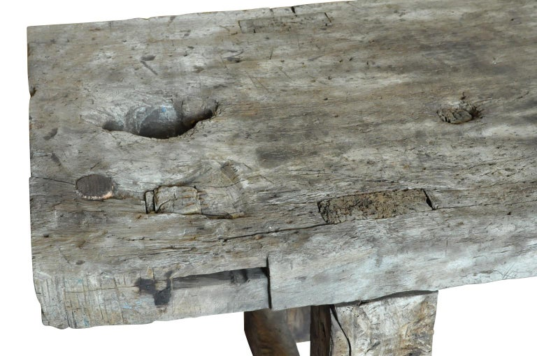 Primitive Early 19th Century Etabli - Work Bench For Sale 2