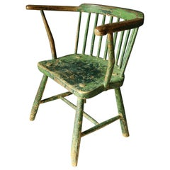 Primitive Early 19th Century Welsh Stick Chair