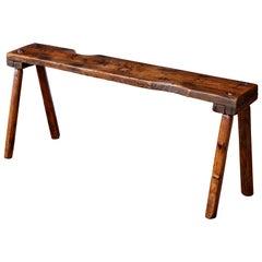 Primitive English Oak Bench