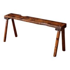 Primitive English Oak Bench