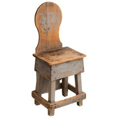 Primitive Factory Chair, America, circa 1900