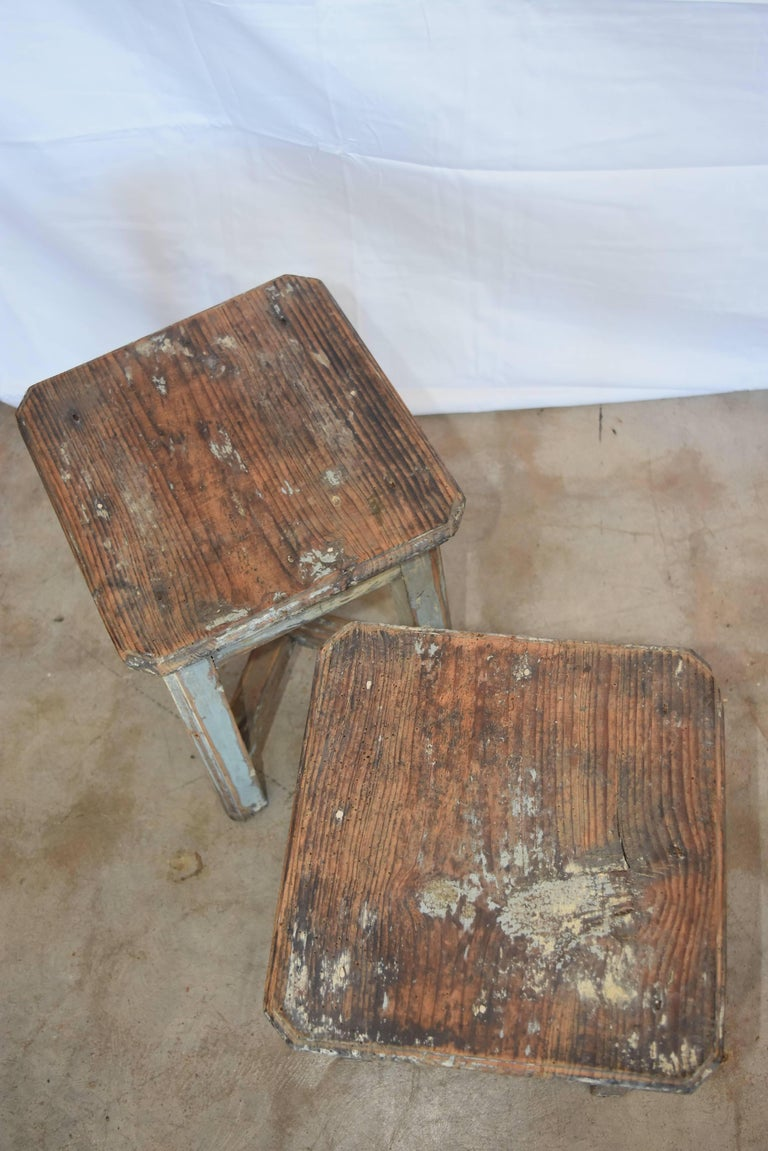 Primitive French Circa 1900 Milking Stools Or Table With