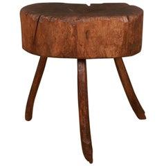 Primitive French Oak Side Table