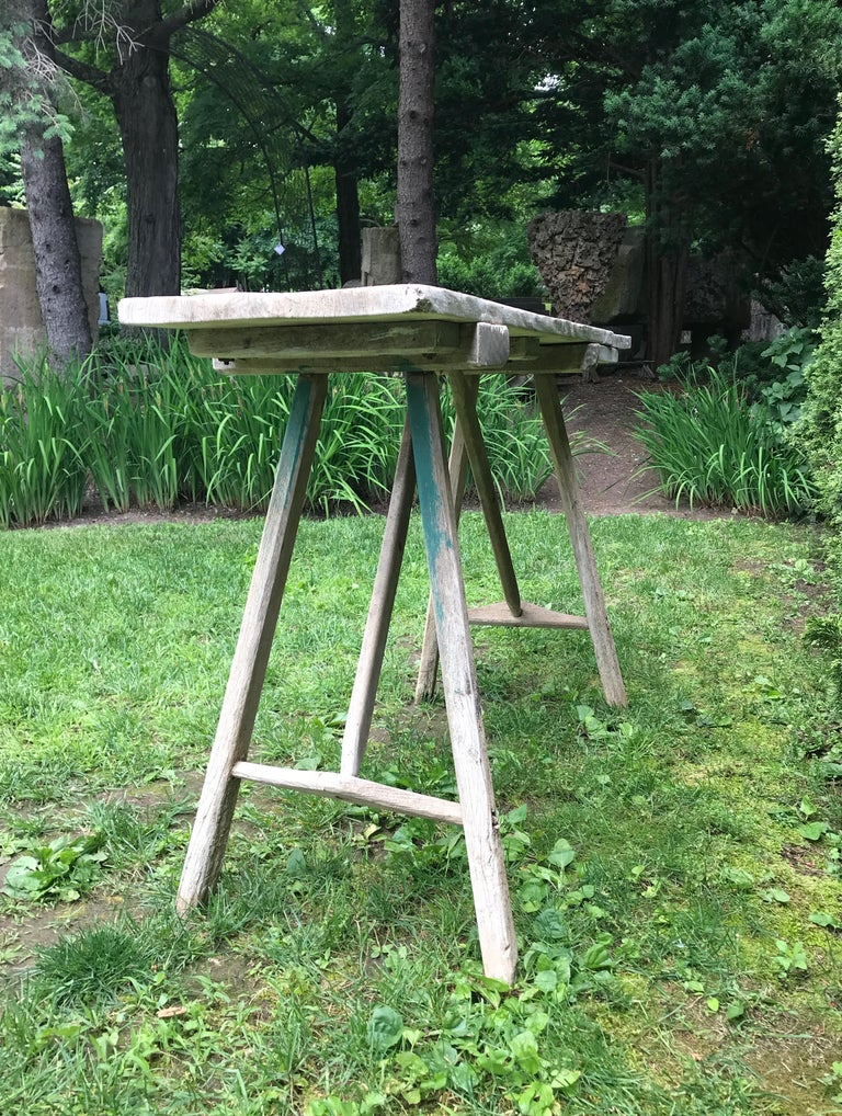 20th Century Primitive French Washerwoman's Console Table in Pine