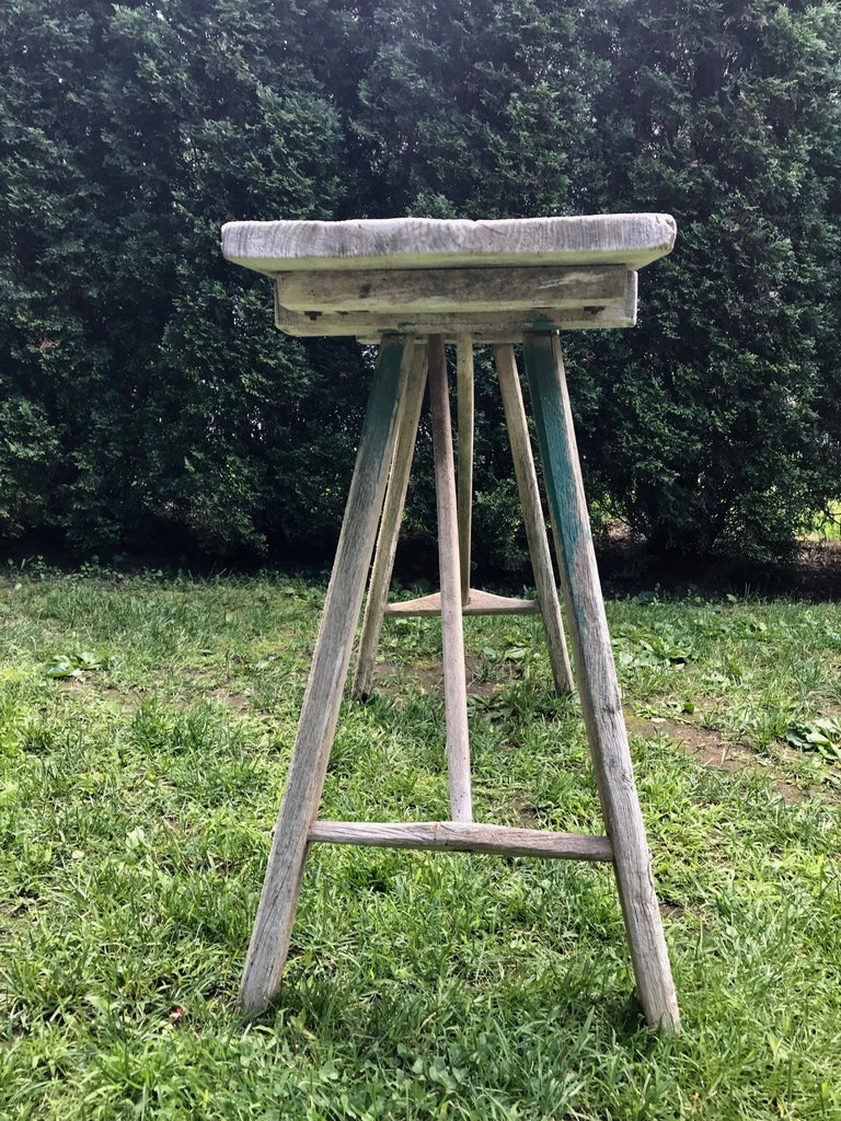 Primitive French Washerwoman's Console Table in Pine 2