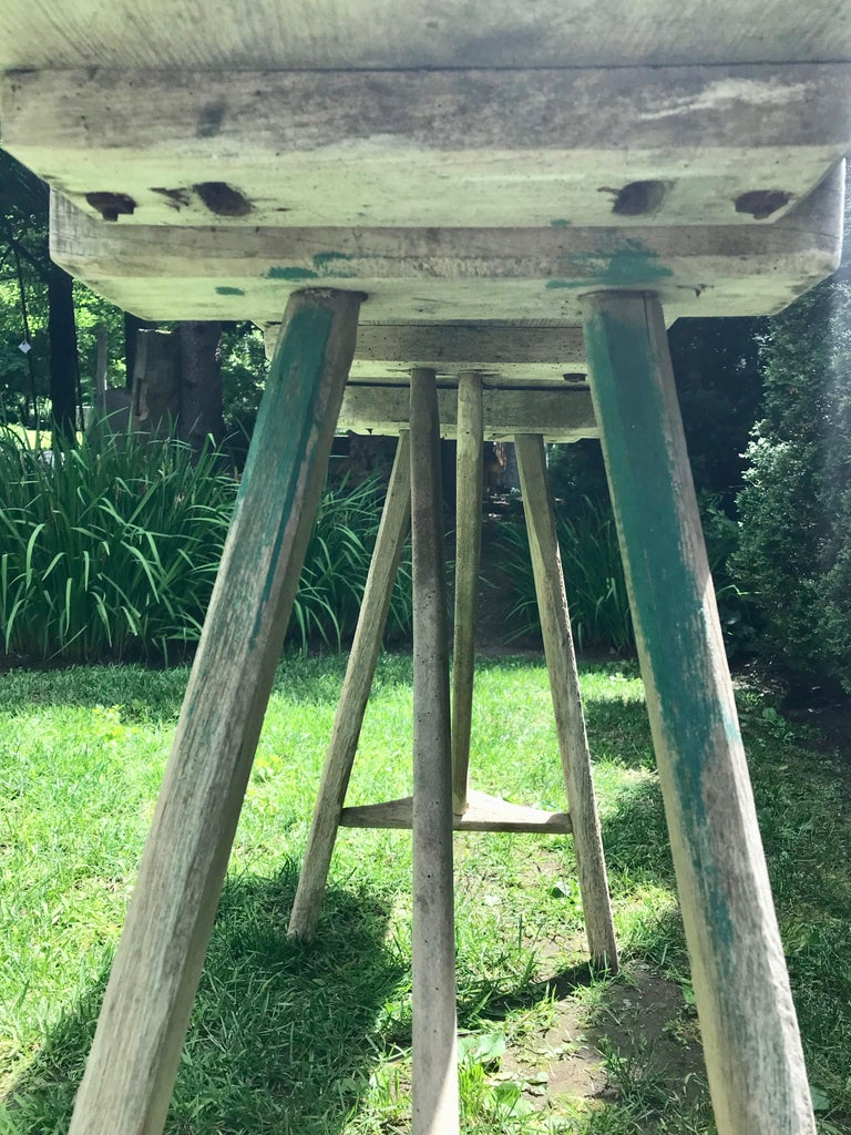 Primitive French Washerwoman's Console Table in Pine 3