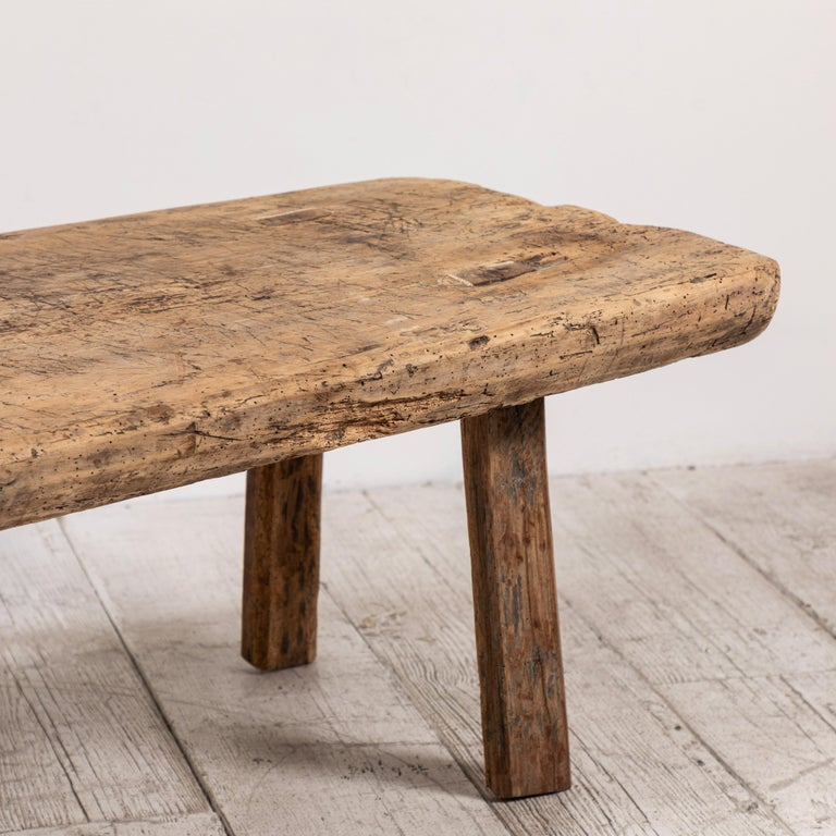 Primitive French Wooden Table 8