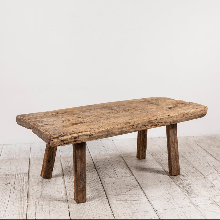 Primitive French Wooden Table 1
