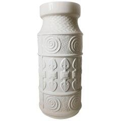 Primitive Modern Sculptural Vintage Floor Vase, Austria, 1970s
